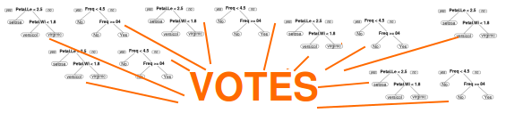 Random Forests are Built with Votes