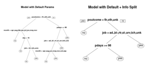 Basic Decision Trees with Information vs Gini Split