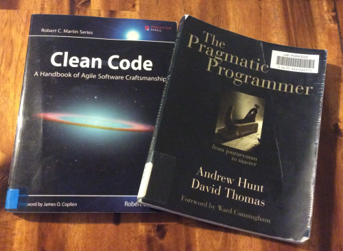 Clean Code and The Pragmatic Programmer Book Covers