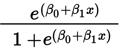 Logistic Regression Formula in Two Forms